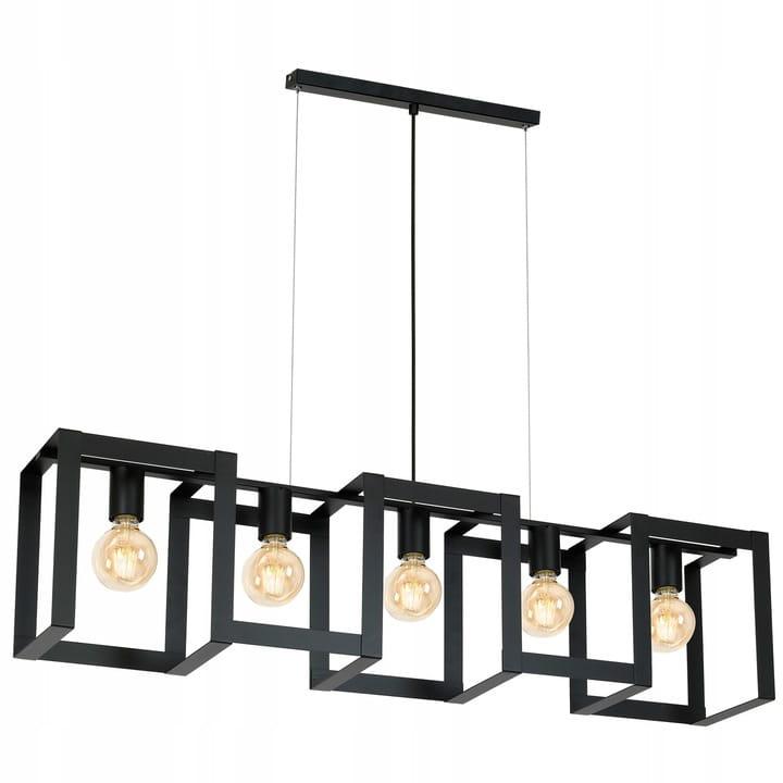 lampy sufitowe czarne materiały